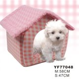 Pink Fabric Pet Bed Dog House (YF77048)