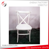 Wood Painting White Wedding Vent Back Chair (FC-149)
