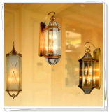 Traditional Indoor Antique Brass Wall Lamp