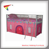 Metal Single Bunk Bed Low Designs for Kids (HF004)
