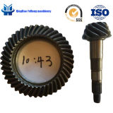 BS6096 10/43 Customized Forging Gear Truck Parts Rear Drive Axle Helical Spiral Bevel Gear