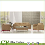 Modern Leather Sofas Furniture Couch Sofas in Beige Color Look