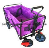 Portable Multifunctional Collapsible Beach Wagon Cart with Double Layer 600d Waterproof Faric