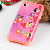 Freesub Sublimation Printing Phone Case with Silicon Cover for iPhone4
