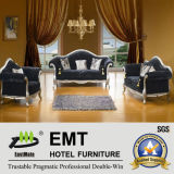 Deluxe Fabric Hotel Living Room Sofa Set (EMT-T89)