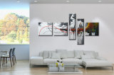 Modern Framed Home Decor Wall Art Abstract Oil Painting on Canvas (XD5-129)