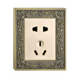Forged Brass Faceplate Hotel Wall Socket