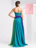 Women's Long Colorful Chiffon Prom Party Dress