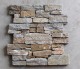 China Local Quarry Golden Yellow Slate Cement Culture Stone (SMC-CC046)