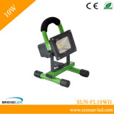 10W LED Floodlight with Rechargeable and Portable/ for Euro USA Japan Market (SUN-FL10WH)