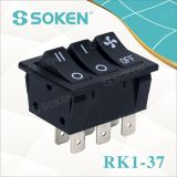 Soken CQC Approved on off 16A 250VAC T100/55 Rocker Switch