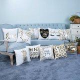 Foil/Gold Print Decorative Cushion/Pillow (MX-02)
