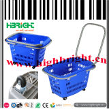 Colourful Convenient Shopping Basket with Four Wheels