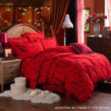 Hot Sale 100% Cotton Simple Romantic Wedding Bed Set