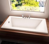 72 X 48 in Embedded Drop in Acrylic Zen Bath Tub