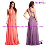 Elegant Chiffon Sexy Prom Gown with Sexy Backless