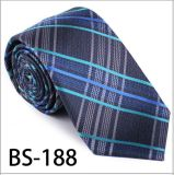 New Design Fashionable Silk/Polyester Check Tie (BS-188)