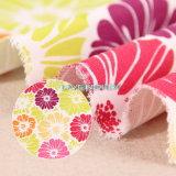 Single Color Flower Patterns 250GSM Textile Canvas Fabric