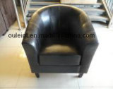 Single Faux Leather Sofa with Armrest