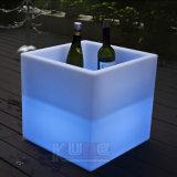 LED Waterproof Cube Ice Bucket Cube Flower Pot