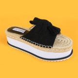 2017 Newest Black Suede Ladies Pump Shoes EVA Sole Flat Women Casual Shoe