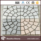 Mesh Backed Natural Granite Cobble Paving Stones for Driveway and Patio