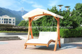 Garden Outdoor Furniture Wooden Tent Type Double Swing Chair