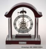 Arch Top Skeleton Clock Wooden Desk Clock