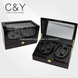 4+0 Custom Solid Black Wood Automatic Watch Winder