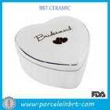 Ceramic Wedding Gift Box in Heart Shaped