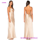 New Coming Modern Style in Front Hollow out Design Evening Gown with Back Strap Bound