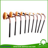 9PCS OEM ODM Functional Golden Golf Makeup Brush for Make up Artists with