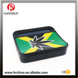 Hot Sale Black Industrial Rol2 Tobacco Rolling Box Cigarette Roller Case with Arch Back Metal Leaf