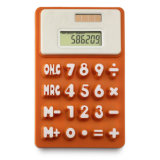 Solar 8 Digit Silicone Calculator with Customized Logo