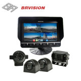 "7"" DVR Recording Monitor with Quad Split Screen for 4 Cameras"