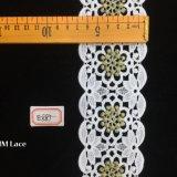 7cm Gold Geometric DOT Flower Wide Lace Fabric Trim for Garment Textile Hme887