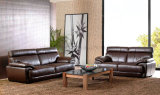 Fashionable Design Wholesale Wood Inside Leather Sofa Sets (UL-NSC038)