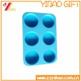 Custom 6 Cells Food Grade Round Shape Silicone Ice Cube Tray/Ice Mold/ Ice Tray