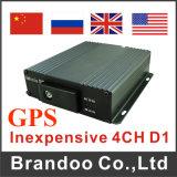 H. 264 4-Channel Vehicle SD Card Portable Car DVR