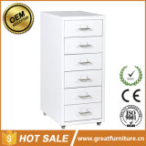 European Style Clasp Hands Metal Office Furniture Mobile Filing Cabinet