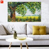 New Peaceful Countryside Large Tree Landscape Canvas Oil Painting