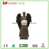 Polyresin Garden Decorative Angel Figurine with Solar Light for Outdoor Decoration