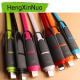2 in 1 Retractable for iPhone and Android USB Data Cable