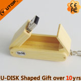 Hot Folding Wood Gift USB Stick with Custom Capacity (YT-8122)
