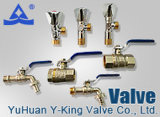 Brass Plumbing Water Control Ball Valve with Factory Price (YD-1021)