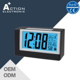 Light Sensor Radio Controlled Digital Alarm Clock with Temperature Humidity