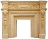 Europe Style Sandstone Sculpture Fireplace for Home Decorations