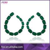 Beautiful Women Fashion Brass Jewelry Colorful Glass Cc Earrings