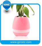 Smart Touch Music Flowerpot with Bluetooth Speaker and LED Light
