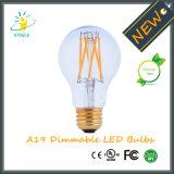 New Design Neodymium Glass A19/A60 Nostalgic LED Filament Bulb